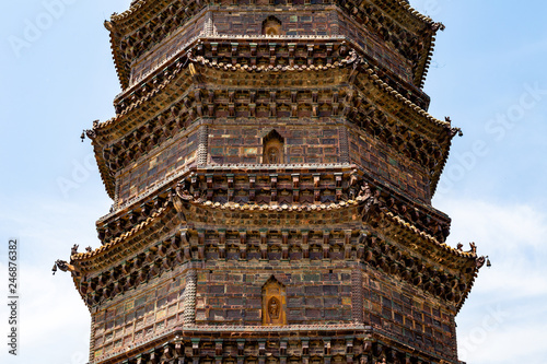 The Iron Pagoda of Kaifeng, Henan, China  Built in 1069 and