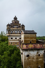 Jul 2017 – Kaiping, China – Ruishi Lou in Kaiping Diaolou JinJiangLi village, near Guangzhou. Built by rich overseas Chinese, these family houses are a unique mix of Chinese and western architecture