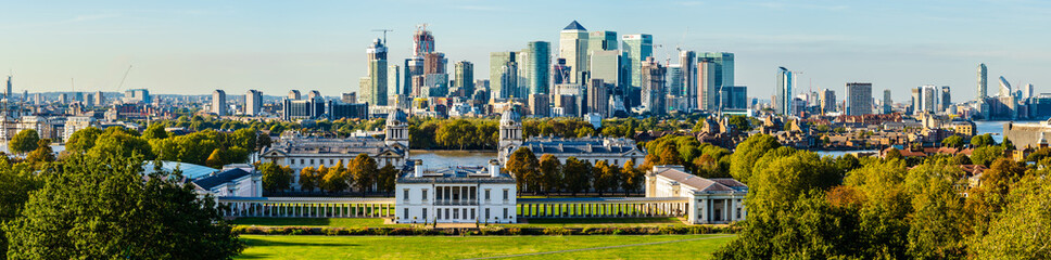 Foto op Canvas Oceanië Greenwich University and the City of London, UK