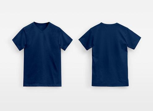 Juice Basic V-Neck T-Shirt Man unbranded deep navy
