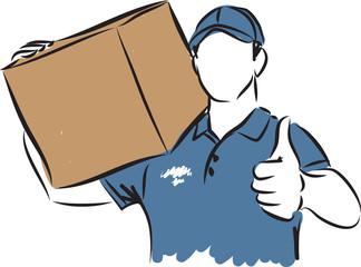 delivery man gesture illustration