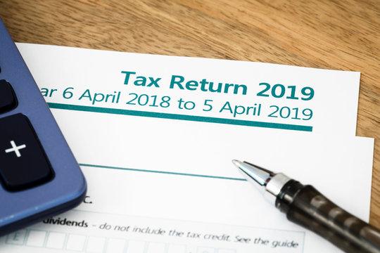 Tax return form UK 2019