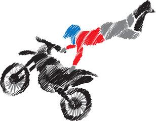 motocross jump illustration