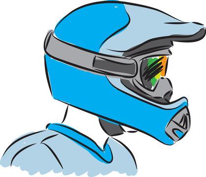 motocross helmet illustration