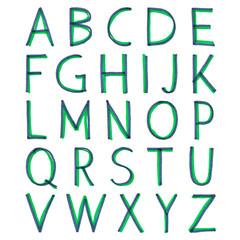 Hand-drawn alphabet. Calligraphy font. Modern brush lettering. Grunge style alphabet.