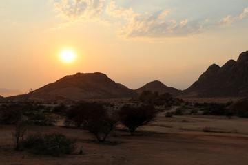 Spitzkoppe (Spitzkuppe) sunrise - Namibia Africa