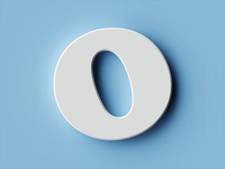 White paper letter alphabet character O font