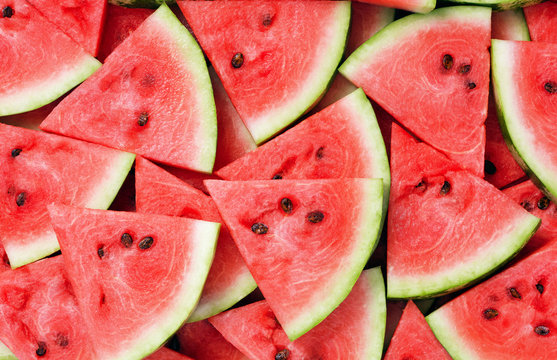 slice of watermelon as textured background