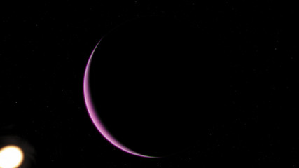 Exoplanet 3D illustration purple violet (Elements of this image furnished by NASA)