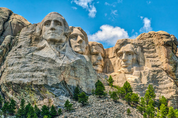 Wall Murals Pale violet Mount Rushmore, iconic landmark