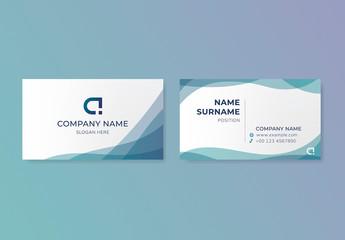 Modern Blue Business Card Layout