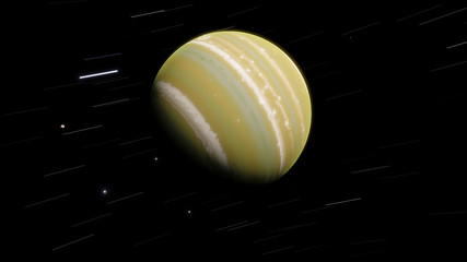 Green exoplanet gas giant 3D illustration (Elements of this image furnished by NASA)