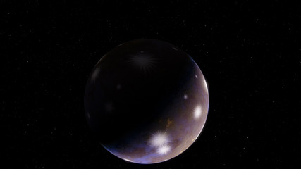 Brown Gray ice exoplanet 3D illustration (Elements of this image furnished by NASA)