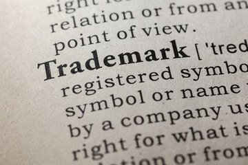 Wall Mural - definition of trademark