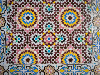 Traditional oriental Moroccan mosaic