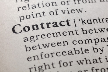 Wall Mural - definition of contract