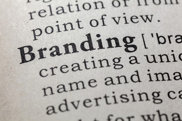 Wall Mural - definition of branding
