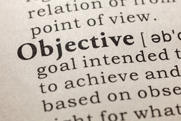 Wall Mural - definition of objective