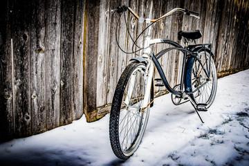 Vintage bicycle on Winter Snow - Color II