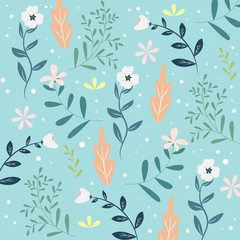 Seamless Floral Pattern or Texture, Spring and Summer Theme Background