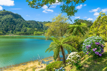 Beautiful view of Furnas Lake