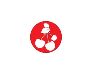 Cherry logo template vector icon