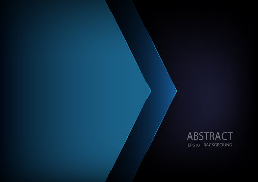 Blue angle arrow overlap vector background on space for text and message artwork design