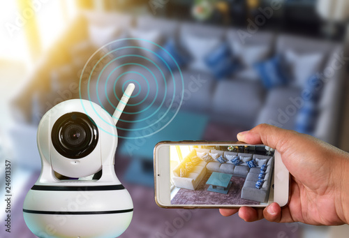 A Robot CCTV camera is technology 4 0 install signal home security