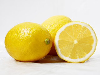 Fresh lemons slice. Fruit photoshoot