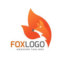 creative fox Animal Modern Simple Design Concept