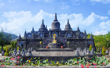 Brahma Vihara Arama, Buddhist Temple .Brahmavihara-Arama also known as Vihara Buddha Banjar due to its location in the Banjar District of Buleleng is a buddhist Temple Monastery. Bali Indonesia. Fotomurales