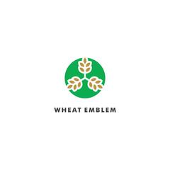 Wheat Store Logo Template vector illustration