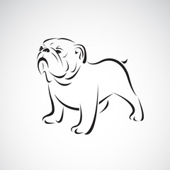 Vector of bulldog design on white background. Pet. Animals. Dog logo or icon. Easy editable layered vector illustration.