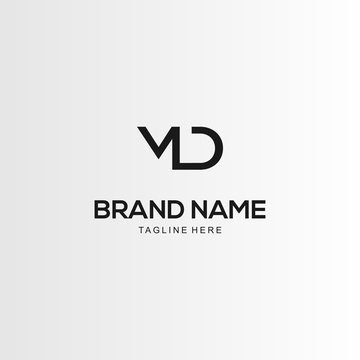 Letter MD Creative Abstract Business Logo