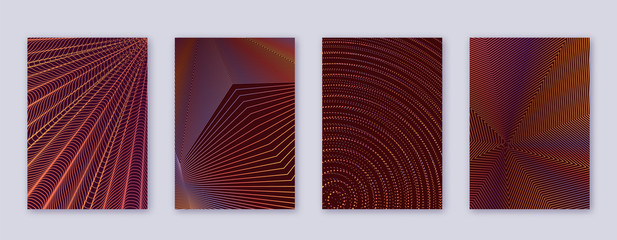 Art business card. Abstract lines modern brochure