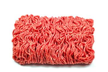 Rinderhack, Hackfleisch vor weißem Hintergrund