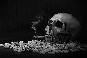 Stop smoke for health yourself and close person adjustment color black and white