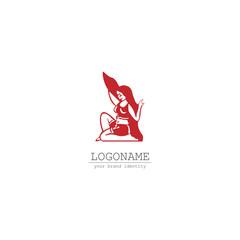 woman sport symbol logo