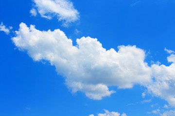 Blue sky with white clouds beautiful background. - Image
