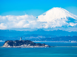 富士山と江ノ島