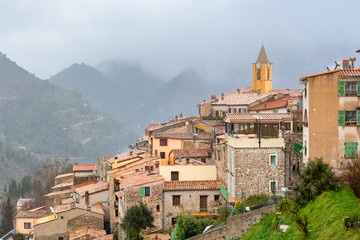 Sainte-Agnes in the south of France, near Menton, beautiful village perched on the cliffs