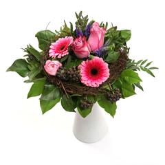 Blumenstrauß mit Gerbera und Rosen