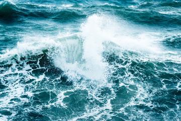 Beautiful stormy sea