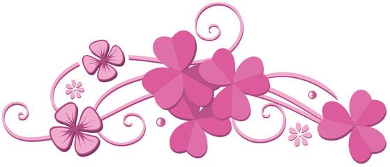 Klee St. Patricks Day Valentinstag Rosa Kleeblätter Girlie