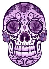 Floral Sugar Skull Totenkopf Totenschädel Day Of The Dead Halloween