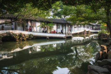 Garden in Zhujiajiao Ancient water Town. Shanghai. China