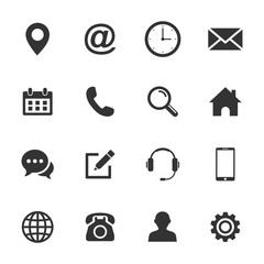Web icon set. Set of web icon symbol vector