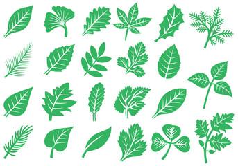 Leaf icons vector set (design elements)