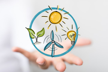 green energy in hand