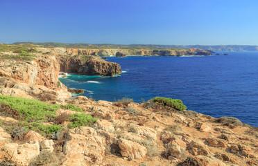 Atlantic Coast of Portugal at Carrapateira near Praia Bordeira